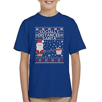 Socially Distanced Santa Kid's T-Shirt