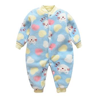 Mono para bebé recién nacido, Cartoon Animal Fleece Warm Romper Jumpsuit& Soft Pajamas