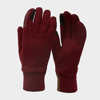 New Sealskinz Women's All Weather Glove Red