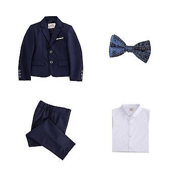 Children Formal Dress Suit-sets Flowwer Blazer +vest + Pant 3pcs Outfits