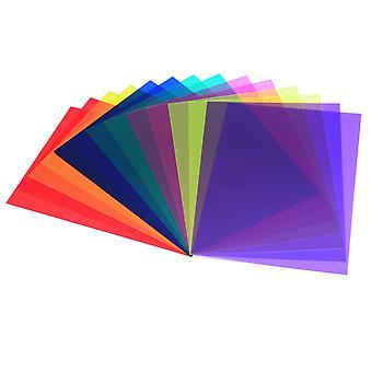 14 Stück Korrektur Gel Filter Überlagerungen Transparenz Farbfolie Kunststoff Platten Gel Beleuchtungfilter