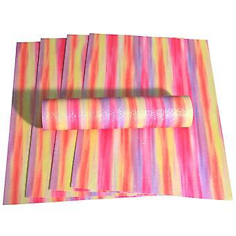 A4 Glitter Carta Rainbow Colour Mix Scintillante Soft Touch Non Shed 100gsm 10 Fogli