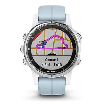 Garmin 010-01987-23 Fenix 5S Plus Wit en blauw siliconen smartwatch