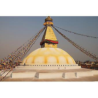 Die Stupa auf Bodhnath Kathmandu Nepal PosterPrint