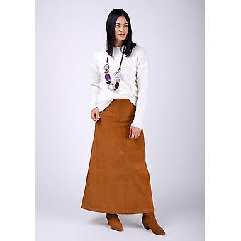 Lottie long cord skirt - brown