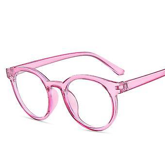 Στρογγυλό πλαίσιο, αντι μπλε ελαφριά γυαλιά, σαφής προστασία ακτινοβολίας για το παιδί