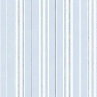 JARDIN CHIC BLUE AND WHITE STRIPE WALLPAPER