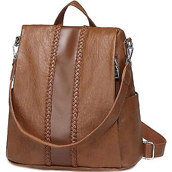 Women Backpack Purse, VASCHY Fashion Faux Leather Anti-theft Backpack