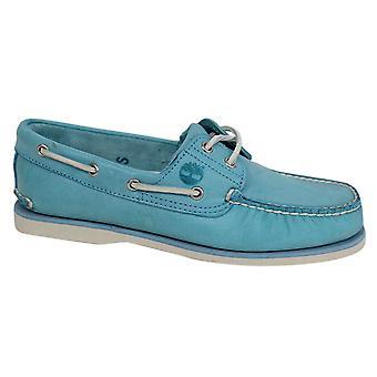 تيمبرلاند كلاسيك 2 العين الجلود الدانتيل حتى قارب أحذية الرجال الأزرق A130B B29A