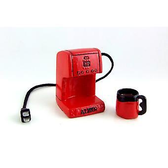 Melodia Jane Dolls House Miniatyyri 1:12 Keittiö lisävaruste punainen kahvinkeitin