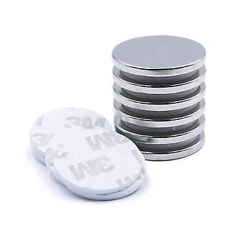 10pcs Of Self - Adhesive Disc Magnet