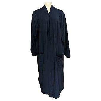 Isaac Mizrahi Live! Damen's Pullover Open Long W/ Taschen Blau A384892