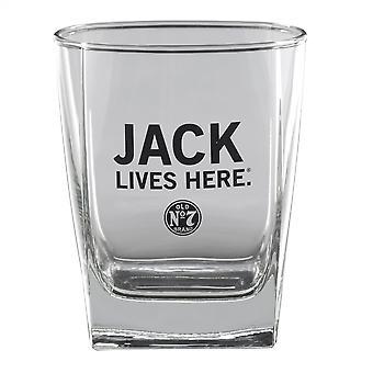 Jack Daniel's Jack Lives Here Double Old Fashion 14 Ounce Glass