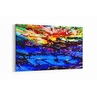 Schilderij - Abstracte kleuren — 100x70cm