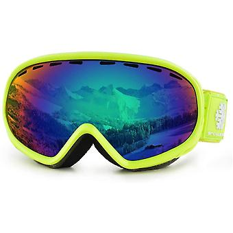 Snowledge Kids Ski Goggles, Youth Skiing Goggles Red, Double Spherical Lens with Anti Fog