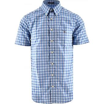 GANT Blue Easy Care Gingham Check Shirt