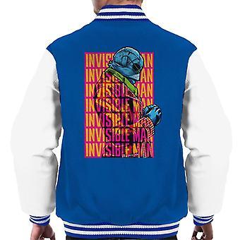The Invisible Man Silhouette Multi Logo Men's Varsity Jacket