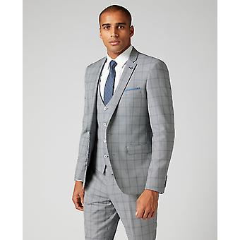 Lazio Blue Check Suit Jacket