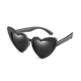 Uv400- Spolaryzowane elastyczne, okulary przeciwsłoneczne serca,