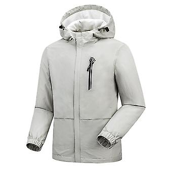 Men's Hooded Classic Windproof Zipper Plus Fleece Jacket