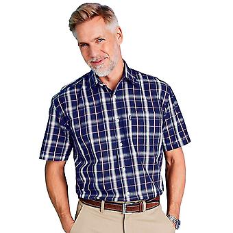 Chums Chums Short Sleeve Check Shirt With Pocket
