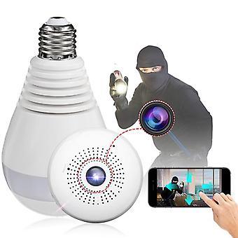 E27 360 Panorama 1080P IR kamera lyspære Wifi Fisheye CCTV sikkerhetskamera