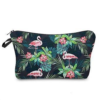 Deanfun Sloth Cosmetic Bag, Waterproof Printing Swanky Turtle Leaf Toilet Bag
