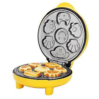 Cartoon Cake Machine Automatic Mini Egg Waffles Children Bread Machine Double-sided Baking Breakfast Machine