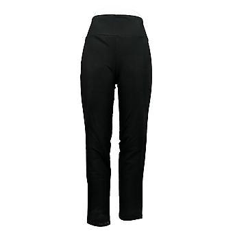Vrouwen met controle vrouwen 's broek regelmatig slank been zwart A225789