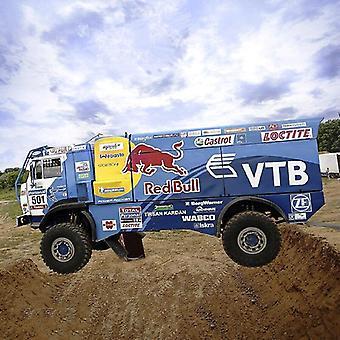 Kuorma-auto 1:53 Dakar Ralli Taittuva leikkaus Mini 3D Paperi Malli Papercraft