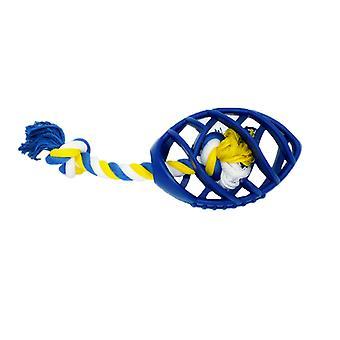 橡胶足球咀嚼玩具与拖绳