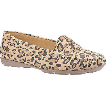 Hush chiots margot femme glisser sur le léopard mocassin 30238