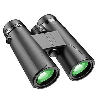Professional binoculars hd 10/12x42 bak4 prism zoom binocular high power 87m/1000m low light night vision camping telescope