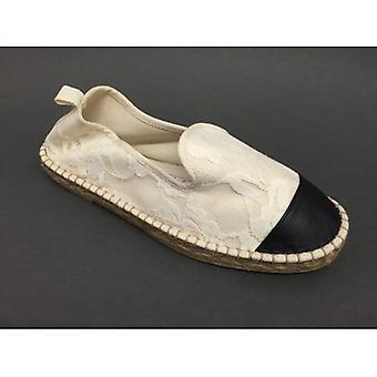 Women's Shoes Elite Espadrillas Rope F Rubber Cotton With White Lace Ds16el02