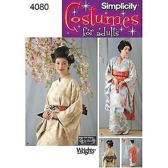 بساطة الخياطة نمط 4080 تفوت السيدات كيمونو جيشا الأزياء حجم 6-12