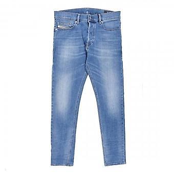 Diesel D-Luster Slim Stretch Denim Blue Washed Jeans 009EK