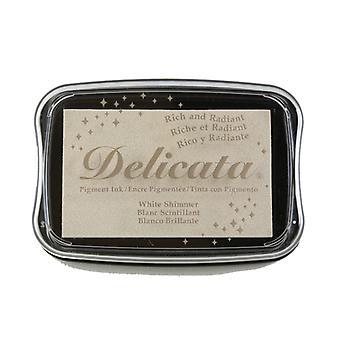 Delicata Pigment Ink Pad - White Shimmer