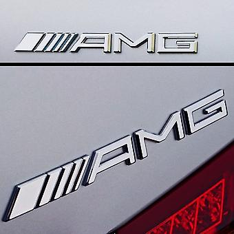 Mercedes AMG Chrome Boot Trunk Emblem Abzeichen Stick On für alle Mercedes AMGs