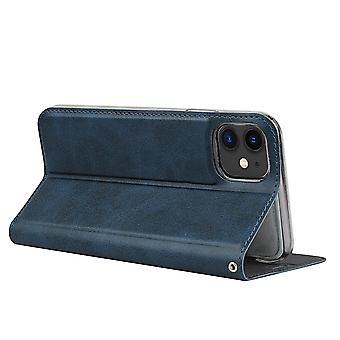 Iphone7 plus/8 plus musta nahka iskunkestävä puhelinkotelo korttipaikan lompakkoon