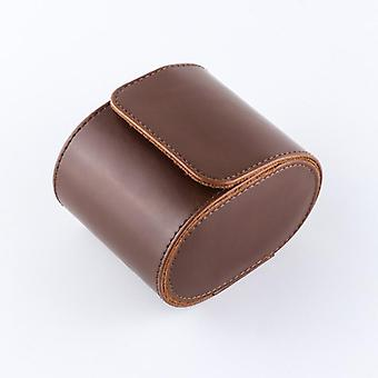 1 Grille Single Watch Box Vintage Pu Leather Slots Flexible Bracket Holder