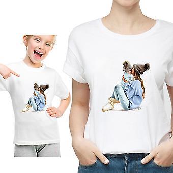 PerheVaatteet T-paita, Naisten Tytär Äiti T-paita, Toppit