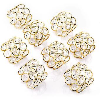 Wokex 8 Glnzend Kristall Perlen Serviettenschnalle Hochzeit Fokus, besondere Anlsse, romantische