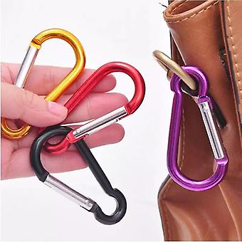 Climbing Button Carabiner, Camping, Hiking Hook, Outdoor Sports, Multi Colors,