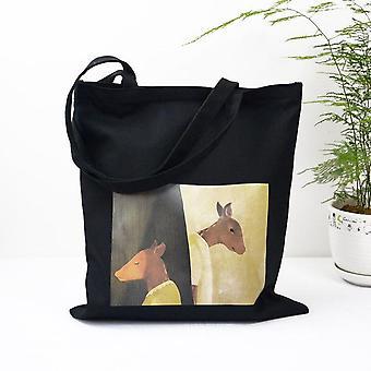 Canvas Printing Bag Students' Supply Convenient Storage Tutorial Bag