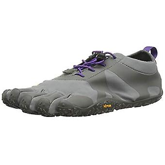 Vibram V-Alpha Womens Hiking Trail Five Fingers Mega Grip Shoes Trainers - Grey/Violet