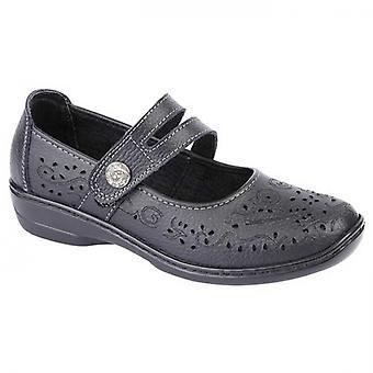 Boulevard Charlotte Ladies Leather Mary Jane Shoes Black