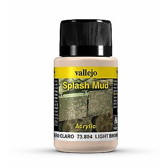 Vallejo Weathering Effects 40ml - Light Brown Splash Mud