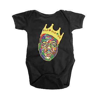 Biggie Smalls Baby Grow Crown Logo new Official Black 0 to 24 Months