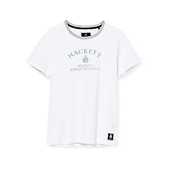 Hackett Hrr Logo Tee T-Shirt, White (White 800), X-Large Men