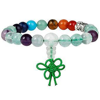 KYEYGWO 21 Mala Bracelet with Crystal Beads Chakra, unisex, Reiki Stretch and Alloy, color: fluorite (7 chakra stones with Ref. 0715444069185